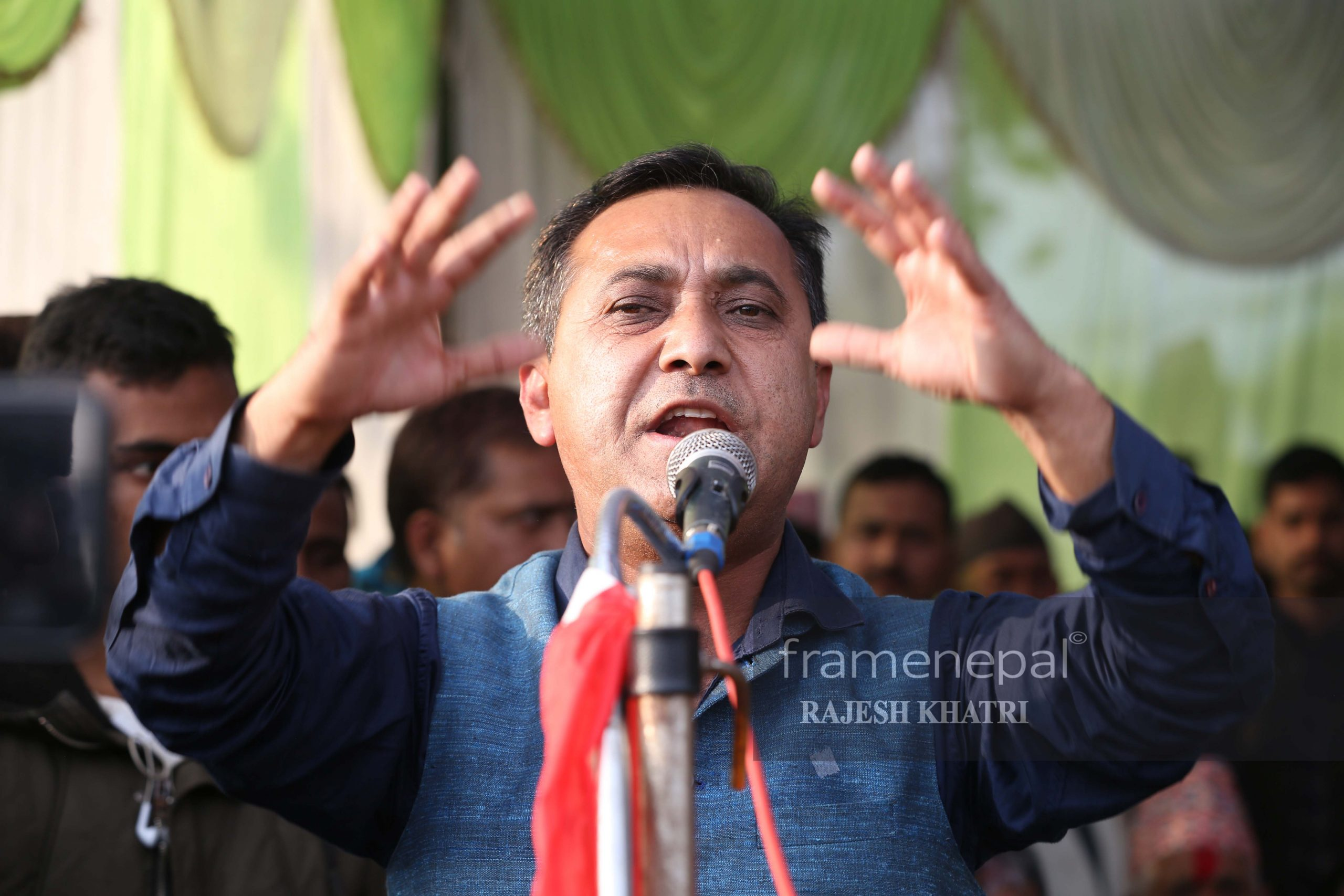 Bishwo Prakash Sharma, 7 Photos of NC Leader Bishwo Prakash Sharma by frame nepal