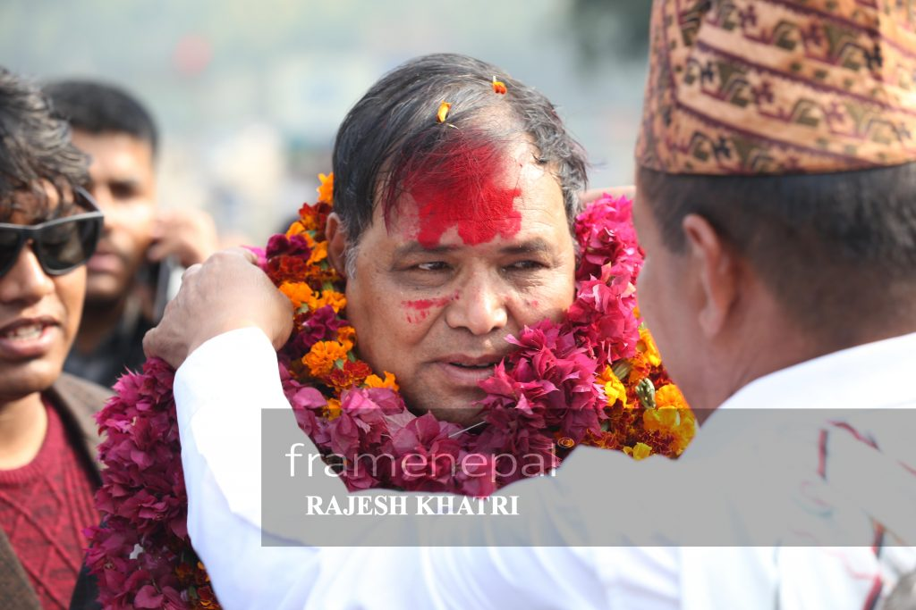 Krishna Bahadur Mahara is a Nepalese politician, belonging to the Nepal Communist Party.