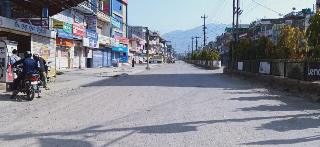 Beautiful Dang Ghorahi Bazar,Best HD Wallpaper Image Nepal Lockdown, Ghorahi Bazar Lockdown, Dang Nepal. Copyright in this photo by Liladhar Oli.