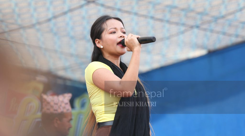 Bhumika Giri, Bhumika Giri is a Nepalese folk(Lok Dohori) singer. She is  known as Stage Queen because of her stage performances. Singer Bhumika Giri has recorded over 300 songs. bhumika giri new song,bhumika giri live dohori,bhumika giri lok dohori,bhumika giri video,bhumika giri song,