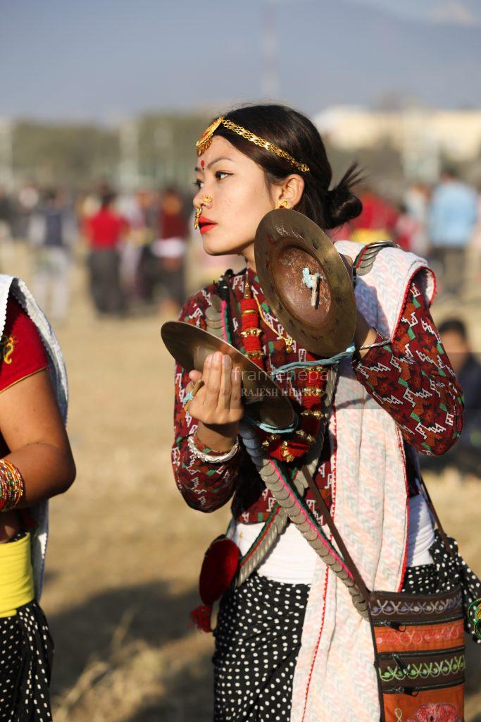 Nepalese Beautiful Girl,A Nepalese girl from Kirat community Udhauli & Ubhauli is the annual festival celebrated by Kirat community of eastern Nepal. This Photo taken at Tudhikhel Kathmandu.